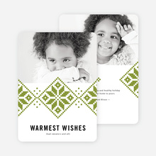 Sweater Weather Holiday Cards - Green
