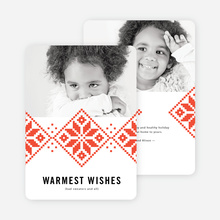 Sweater Weather Holiday Cards - Red