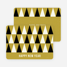 Modern Trees Corporate New Year Cards - Green