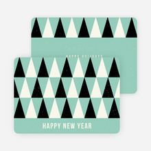Modern Trees Corporate New Year Cards - Blue