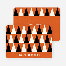 Modern Trees Corporate New Year Cards - Orange