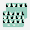 Geometric Trees Holiday Cards - Blue