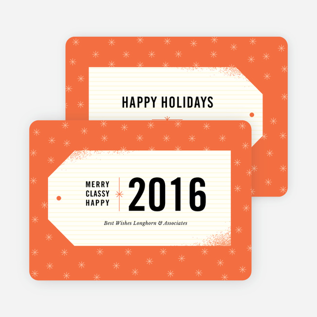 Gift Tag Wishes Corporate Card - Orange