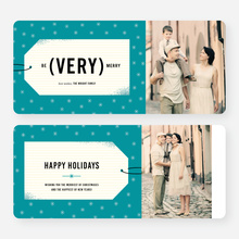 Gift Tag Wishes Corporate Card - Blue