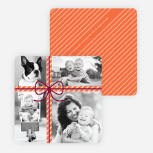 Photo Gift Wrap Holiday Cards - Orange