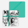Photo Gift Wrap Holiday Cards - Blue