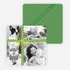 Photo Gift Wrap Holiday Cards - Green