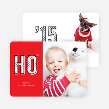 Ho Times Three Christmas Cards - Red