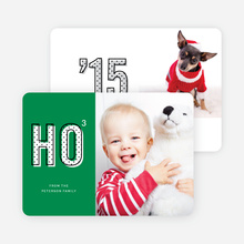 Ho Times Three Christmas Cards - Green