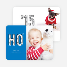 Ho Times Three Christmas Cards - Blue