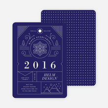 Intricate Details Corporate Holiday Cards - Blue
