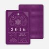 Intricate Details Corporate Holiday Cards - Purple