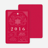 Intricate Details Corporate Holiday Cards - Red