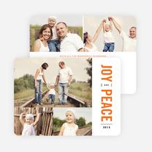 Joy and Peace Holiday Cards - Orange