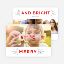 Merry and Bright Christmas Cards - Red