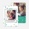 Picture Frame Holiday Cards - Blue