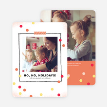 Picture Frame Holiday Cards - Orange