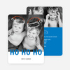Floating Santa Hats Christmas Cards - Blue