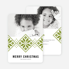 Sweater Pattern Christmas Cards - Green