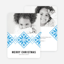 Sweater Pattern Christmas Cards - Blue