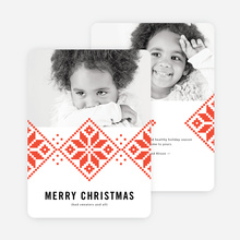 Sweater Pattern Christmas Cards - Red