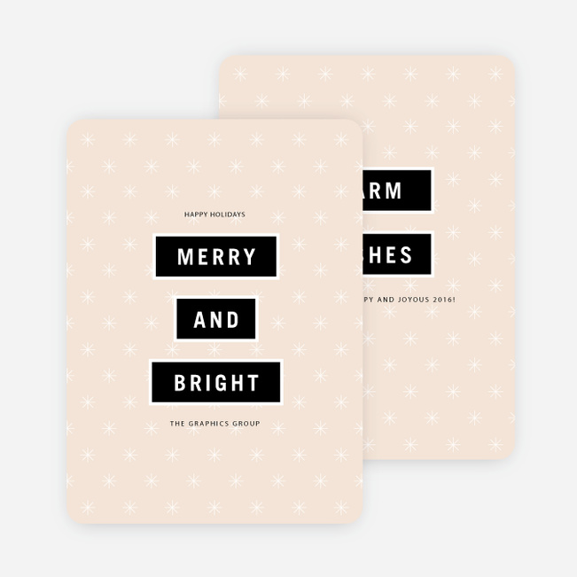 Perfectly Stated Holiday Cards - Pink