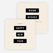 Modern and Bold New Year Cards - Beige