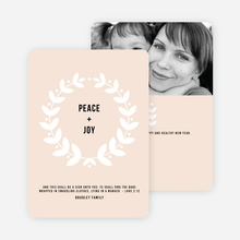 Peace Wreath Holiday Cards - Beige