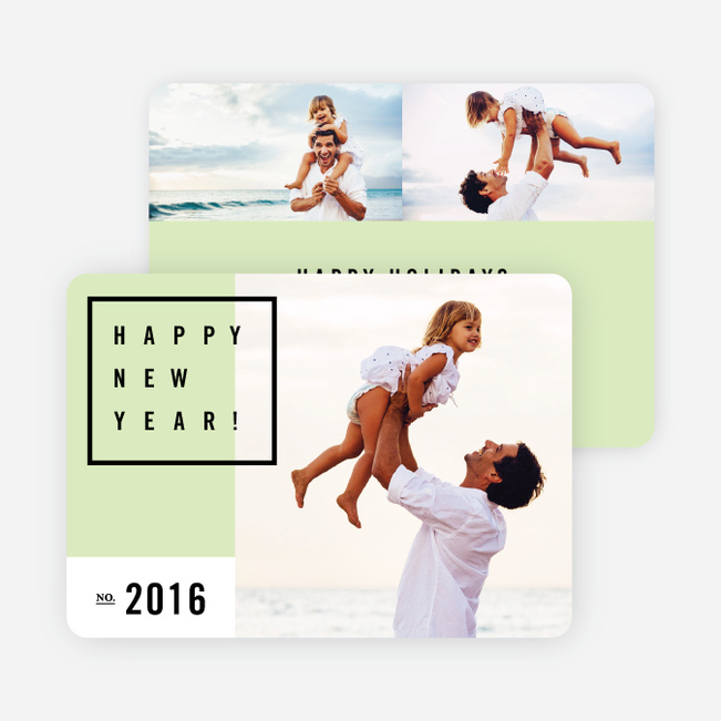 Be Modern New Year Cards - Green