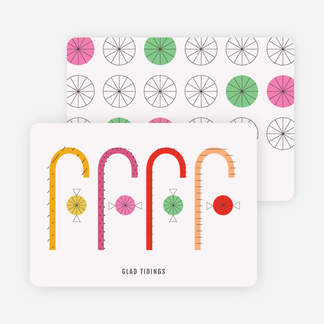Candy Cane Christmas Cards - Multi