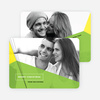 Geometric Photo Christmas Cards - Green