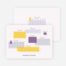 Gift Boxes Corporate Holiday Cards - Purple