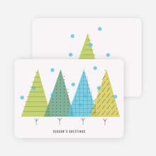 Modern Forest Holiday Cards - Green