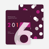 New Year Greetings Holiday Cards - Purple
