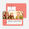 Photo Gift Tag Christmas Cards - Yellow