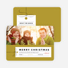 Photo Gift Tag Christmas Cards - Pink