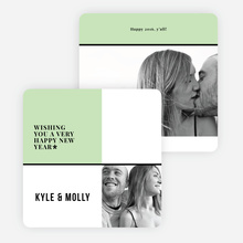 Picture Grid New Year Cards - Green