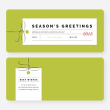 Seasons Greeting Corporate Holiday Cards - Green