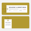 Seasons Greeting Corporate Holiday Cards - Pink