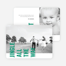 Sideways Text Christmas Cards - Green
