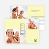 Simple Lines Christmas Cards - Yellow