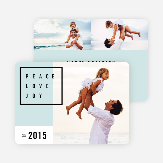 Simply Stated Holiday Cards - Blue
