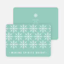 Snowflake Decoration Christmas Cards - Blue