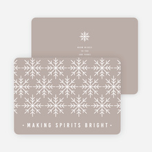 Snowflake Decoration Christmas Cards - Gray