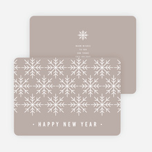 Snowflake Motif Corporate New Year Cards - Gray
