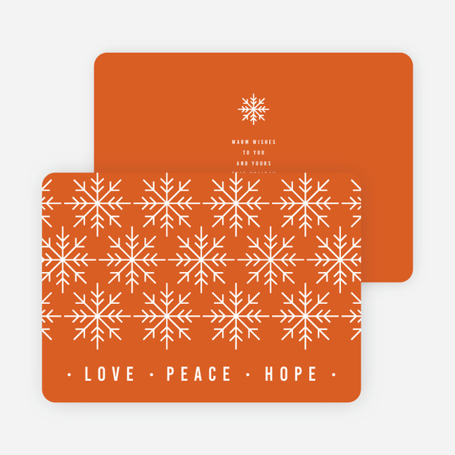 snowflake pattern corporate holiday cards paper culture - Corporate Holiday Cards