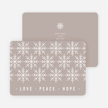 Snowflake Pattern Corporate Holiday Cards - Gray