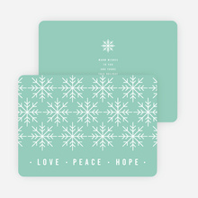 Snowflake Pattern Corporate Holiday Cards - Blue