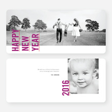 Standing Tall New Year Cards - Purple
