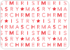 Merry Christmas Letters - Back View